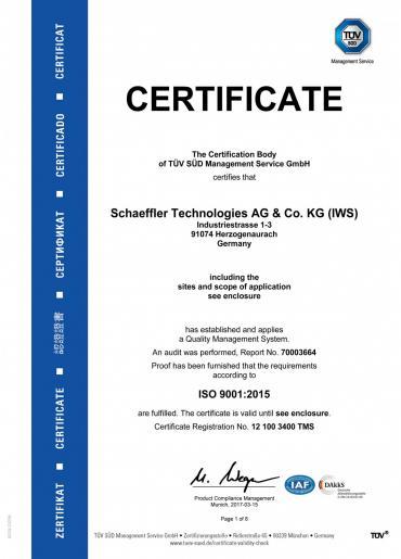 FAG Certificate