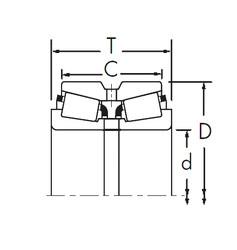 المحامل 18690/18620DC+X1S-18690 Timken